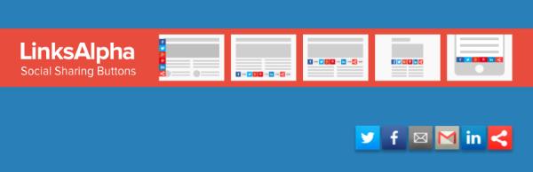 Social Buttons by LinksAlpha wordpress plugin Download