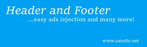Header and Footer wordpress plugin Download