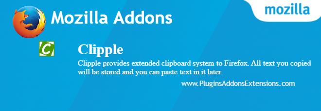 Clipple Mozilla plugin