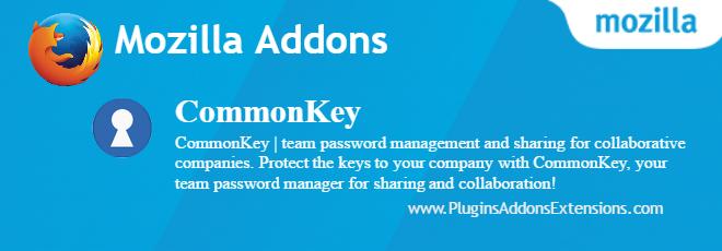CommonKey Mozilla plugin
