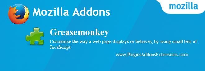 Greasemonkey Mozilla plugin