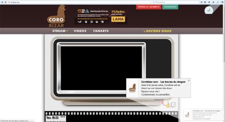 Corobizar.com - Alerte Live- Exemple de mise en ligne d'un stream, Mozilla Addon download