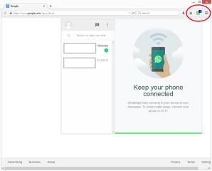 WhatsApp UI and Badge