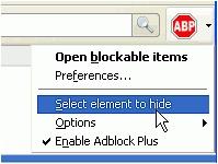 Element Hiding Helper for Adblock Plus- , Mozilla Addon download