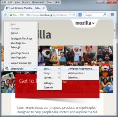 Screengrab (fix version)- Screengrab!, Mozilla Addon download