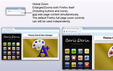 Theme Font & Size Changer- Global Zoom, Mozilla Addon download