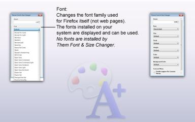 Theme Font & Size Changer- Font Family, Mozilla Addon download