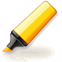 Yellow highlighter pen for web Chrome extension download
