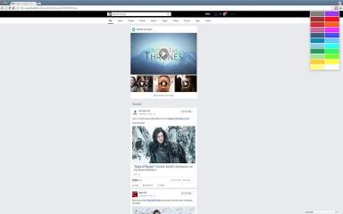 Color Change for Facebook Bar chrome extension